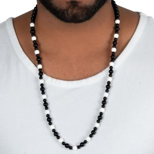 Other - Black and White Onyx Necklace Bracelet for Men